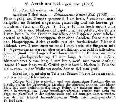 Aztekium ritteri description
