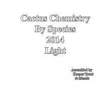sacred cacti cactus chemistry by species 2014 light